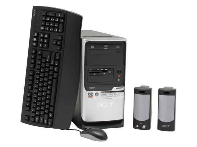 Acer Aspire AST180-UA380A Desktop PC Athlon 3800+ 1GB DDR2 160GB HDD Capacity NVIDIA GeForce 6100 Windows Vista Home Premium