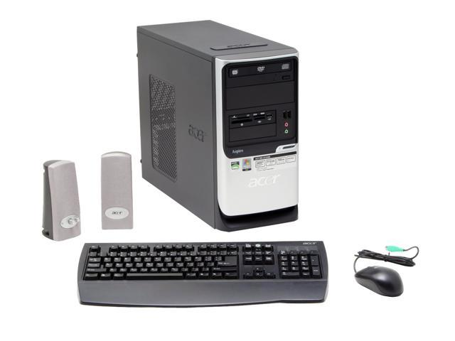 Acer Aspire AST180-US340B Desktop PC Sempron 3400+ 512MB DDR2 160GB HDD Capacity NVIDIA GeForce 6100 Windows Vista Home Basic