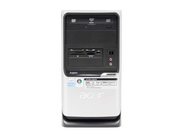 Acer Aspire AST690-UP820A Desktop PC Pentium D 820(2.8GHz) 1GB DDR2 250GB HDD Capacity Intel GMA 3000 Windows Vista Home Premium