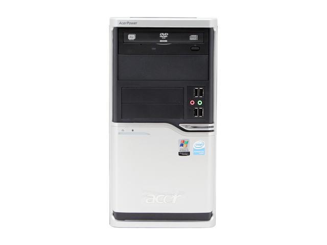 Acer Power APFH-EP6310P Desktop PC Pentium 4 631(3.0GHz) 512MB DDR2 80GB HDD Capacity Intel GMA 3000 Windows XP Professional