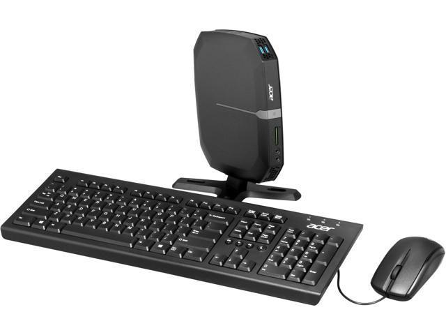 Acer Veriton VN2620G-UC887L (DT.VFGAA.001)  Nettop Computer - Intel Celeron 887 1.50GHz 2GB DDR3 320GB Linux - Gray, Black