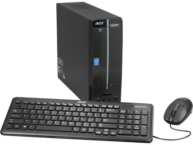 Acer Desktop PC Aspire AXC-605-UR10 Intel Core i3 4130 (3.40 GHz) 4 GB DDR3 1 TB HDD Intel HD Graphics 4400 Windows 8.1