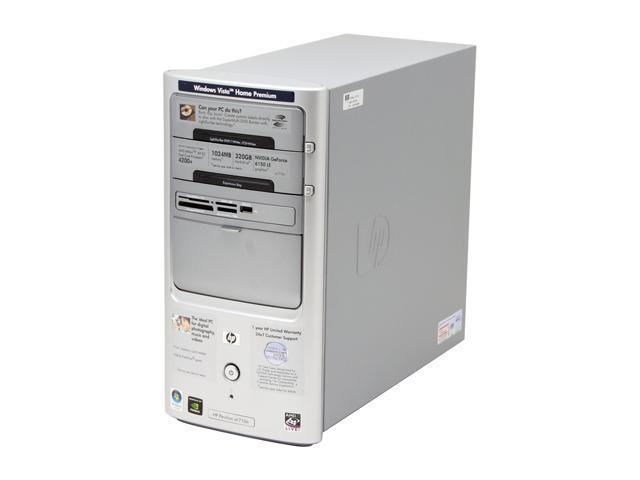 HP Pavilion a1710n(RK573AA) Desktop PC Athlon 64 X2 4200+ 1GB DDR2 320GB HDD Capacity NVIDIA GeForce 6150 LE Windows Vista Home Premium