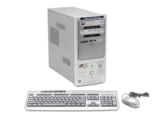 HP Pavilion a1720n(RT641AA) Desktop PC Core 2 Duo E6300(1.86GHz) 1GB DDR2 320GB HDD Capacity Intel GMA 950 Windows Vista Home Premium