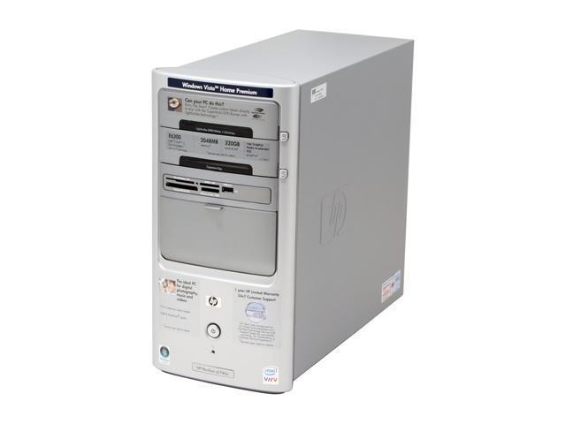 HP Pavilion a1740n(RK575AA) Desktop PC Core 2 Duo E6300(1.86GHz) 2GB DDR2 320GB HDD Capacity Intel GMA 950 Windows Vista Home Premium