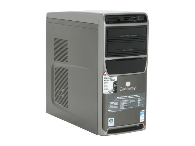 Gateway GM5442 Desktop PC Core 2 Duo E4400(2.00GHz) 2GB DDR2 500GB HDD Capacity Intel GMA 950 Windows Vista Home Premium