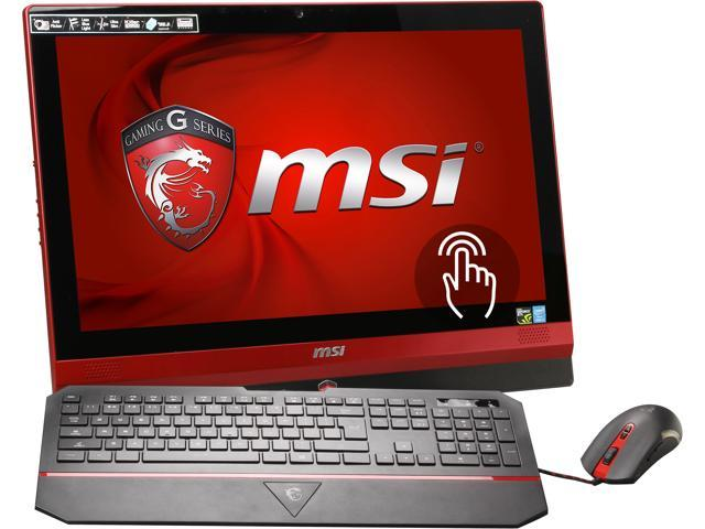 MSI All-in-One PC AG240 2PE-003US (9S6-AE6711-003) Intel Core i7 4700MQ (2.40 GHz) 16 GB DDR3 1 TB HDD 128 GB SSD 23.6