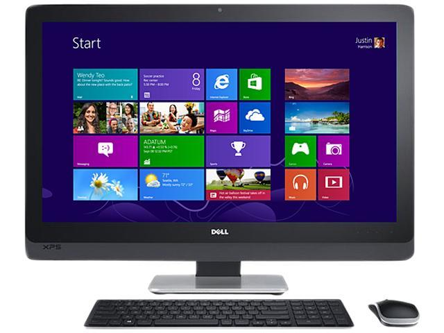 "DELL XPS Desktop PC Intel Core i7 Standard Memory 16 GB Memory Technology DDR3 SDRAM 2TB HDD 27"" Windows 8 Pro"