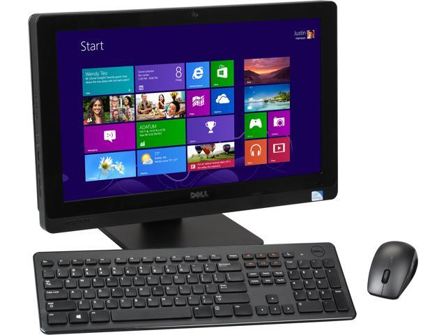 "DELL All-in-One PC Inspiron One 2020 io2020-3340BK Pentium G2030T (2.60 GHz) 4 GB DDR3 1 TB HDD 20"" Windows 8"