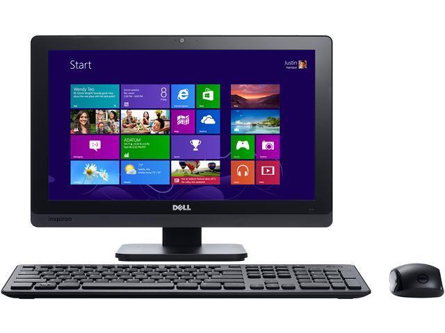 "DELL All-in-One PC Inspiron One io2020-3338BK Pentium G2020T (2.50 GHz) 4 GB DDR3 1 TB HDD 20"" Windows 8"