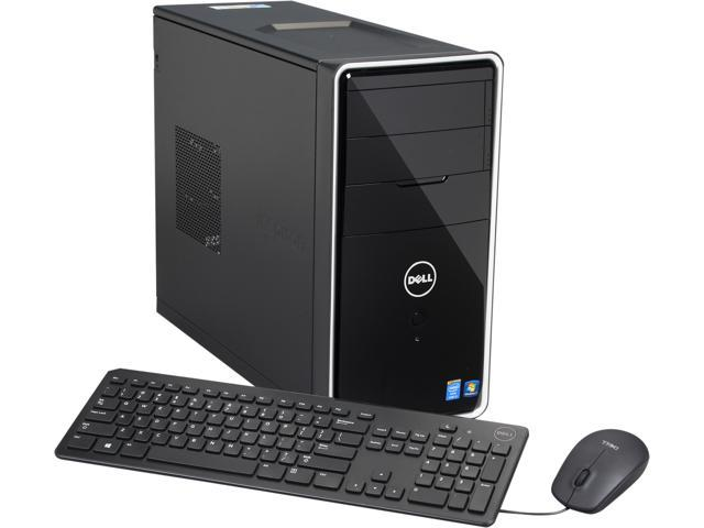 DELL Desktop PC i3847-5078BK Intel Core i5 4460 (3.2 GHz) 8 GB DDR3 1 TB HDD Windows 7 Home Premium 64-Bit