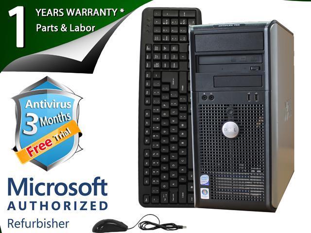 DELL Desktop Computer 745 Core 2 Duo E6300 (1.86 GHz) 2 GB DDR2 80 GB HDD Windows 7 Home Premium 64-Bit