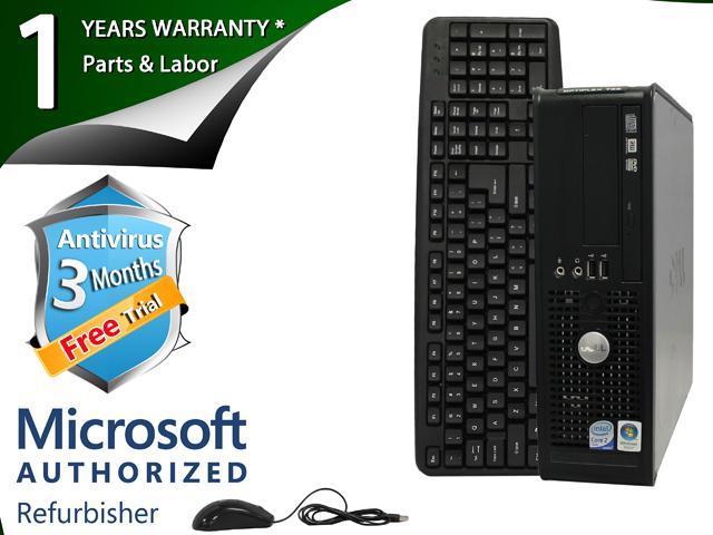 DELL Desktop Computer 755 Core 2 Duo E6750 (2.66 GHz) 4 GB DDR2 1 TB HDD Windows 7 Professional 64-Bit