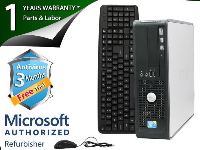 DELL Desktop Computer 780 Core 2 Duo E8400 (3.00 GHz) 4 GB DDR3 750 GB HDD Intel GMA 4500 Windows 7 Professional 64-Bit