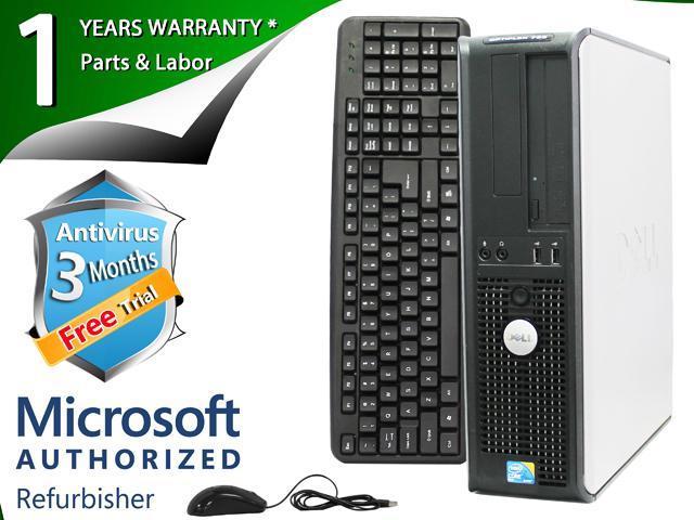 DELL Desktop Computer 780 Core 2 Duo E8400 (3.00 GHz) 8 GB DDR3 320 GB HDD Intel GMA 4500 Windows 7 Professional 64-Bit