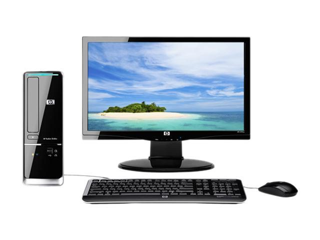 HP Desktop PC Bundle Pavilion Slimline s5713w-b (BV614AAR#ABA) Athlon II X2 240 (2.80 GHz) 3 GB DDR2 500 GB HDD NVIDIA GeForce 6150 SE Windows 7 Home Premium 64-bit