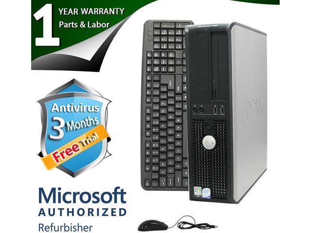 DELL Desktop Computer 755 Core 2 Duo E6550 (2.33 GHz) 2 GB DDR2 80 GB HDD Windows 7 Home Premium 64-Bit