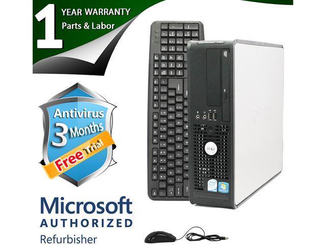 DELL Desktop Computer 760 Core 2 Duo E8400 (3.00 GHz) 4 GB DDR2 500 GB HDD Windows 7 Professional 64-Bit