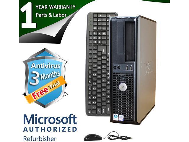 DELL Desktop Computer 760 Core 2 Duo E7400 (2.80 GHz) 4 GB DDR2 160 GB HDD Windows 7 Professional 64-Bit