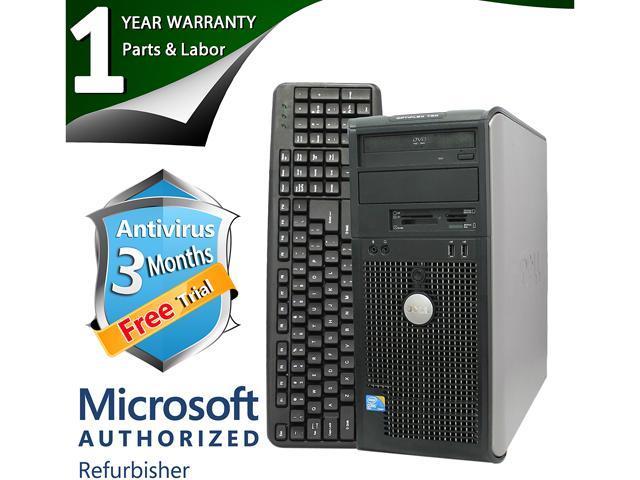 DELL Desktop Computer 780 Core 2 Duo E8400 (3.00 GHz) 4 GB DDR3 320 GB HDD Intel GMA 4500 Windows 7 Professional 64-Bit