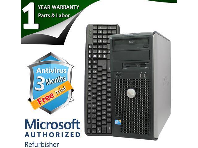 DELL Desktop Computer 780 Core 2 Duo E8400 (3.00 GHz) 4 GB DDR3 500 GB HDD Intel GMA 4500 Windows 7 Professional 64-Bit