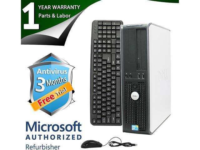 DELL Desktop Computer 780 Core 2 Duo E8400 (3.00 GHz) 4 GB DDR3 1 TB HDD Intel GMA 4500 Windows 7 Professional 64-Bit