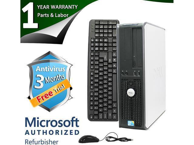 DELL Desktop Computer 780 Core 2 Duo E8400 (3.00 GHz) 4 GB DDR3 2 TB HDD Intel GMA 4500 Windows 7 Professional 64-Bit