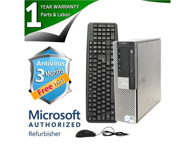 DELL Desktop Computer OptiPlex 960 Core 2 Duo E8400 (3.00 GHz) 4 GB DDR2 320 GB HDD Windows 7 Professional 64-Bit