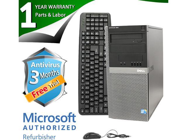 DELL Desktop Computer OptiPlex 960 Core 2 Duo E8400 (3.00 GHz) 4 GB DDR2 500 GB HDD Windows 7 Professional 64-Bit