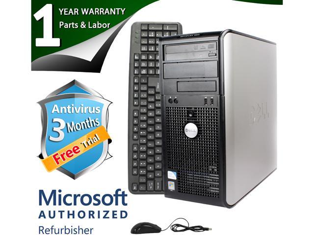 DELL Desktop Computer 360 Core 2 Quad Q6600 (2.40 GHz) 4 GB DDR2 320 GB HDD Intel GMA 3100 Windows 7 Professional 64-Bit