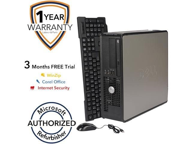 DELL Desktop PC 380 Core 2 Duo E7500 (2.93 GHz) 4 GB DDR3 160 GB HDD Windows 7 Professional 64-Bit