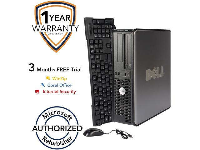 DELL Desktop PC 380 Core 2 Duo E7500 (2.93 GHz) 4 GB DDR3 320 GB HDD Windows 7 Professional 64-Bit
