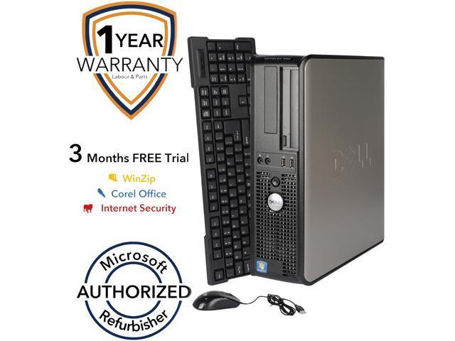 DELL Desktop PC 580 Athlon II X2 B22 (2.80 GHz) 4 GB DDR3 160 GB HDD Windows 7 Professional 64-Bit