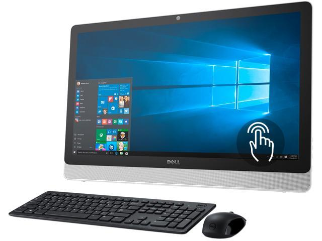 DELL All-in-One Computer Inspiron i3455-8041WHT A6-Series APU A6-7310 (2.0 GHz) 4 GB DDR3L 1 TB HDD 23.8