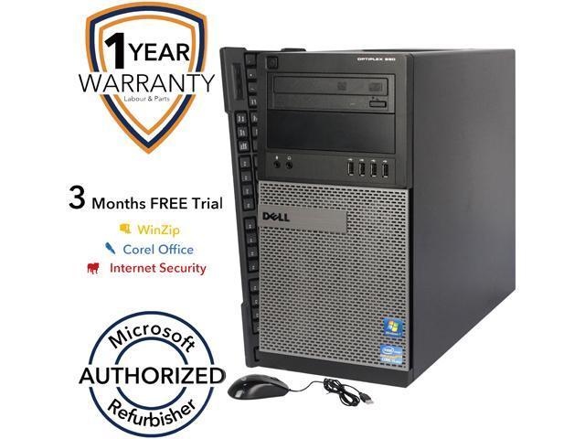 DELL Desktop PC 990 Intel Core i5 2400 (3.10 GHz) 4 GB DDR3 250 GB HDD Intel HD Graphics 2000 Windows 7 Professional 64-Bit