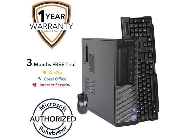 DELL Desktop PC 990 Intel Core i3 2100 (3.10 GHz) 4 GB DDR3 250 GB HDD Intel HD Graphics 2000 Windows 7 Professional 64-Bit