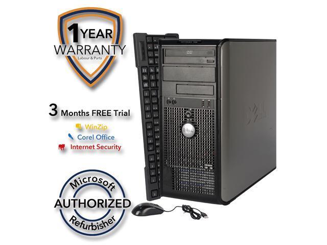 DELL Desktop Computer 755 Core 2 Duo E7600 (3.06 GHz) 4 GB DDR2 320 GB HDD Windows 7 Professional 64 Bit