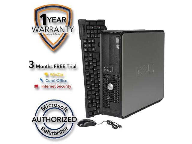 DELL Desktop Computer 755 Core 2 Duo E7600 (3.06 GHz) 4 GB DDR2 320 GB HDD Windows 7 Professional 64-Bit