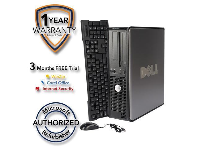 DELL Desktop Computer 755 Core 2 Duo E7400 (2.80 GHz) 4 GB DDR2 160 GB HDD Windows 7 Professional 64-Bit