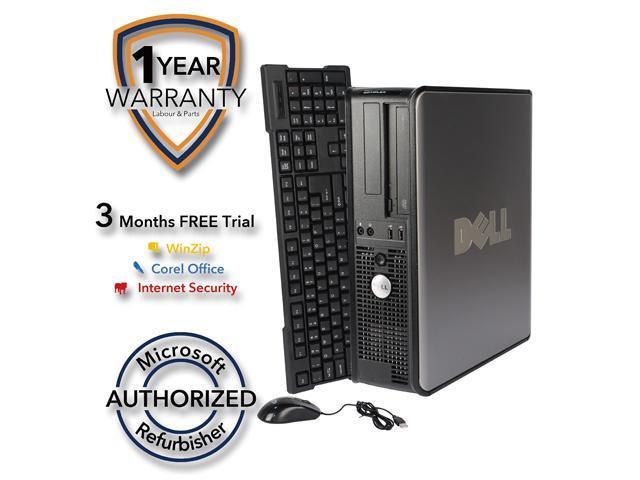 DELL Desktop Computer 755 Core 2 Duo E7600 (3.06 GHz) 4 GB DDR2 1 TB HDD Windows 7 Professional 64 Bit