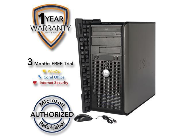 DELL Desktop Computer 755 Core 2 Duo E6550 (2.33 GHz) 4 GB DDR2 160 GB HDD Windows 7 Home Premium 64 Bit