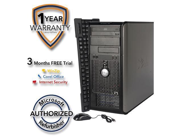 DELL Desktop Computer 755 Core 2 Duo E6550 (2.33 GHz) 4 GB DDR2 1 TB HDD Windows 7 Professional