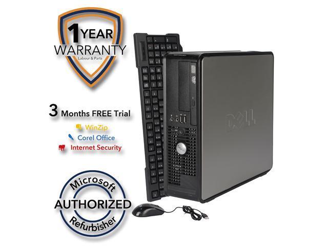 DELL Desktop Computer 760 Core 2 Duo E7600 (3.06 GHz) 4 GB DDR2 160 GB HDD Windows 7 Professional 64 Bit