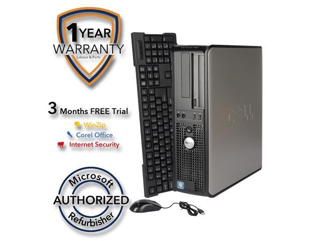 DELL Desktop Computer 760 Core 2 Duo E7600 (3.06 GHz) 4 GB DDR2 320 GB HDD Windows 7 Professional 64 Bit