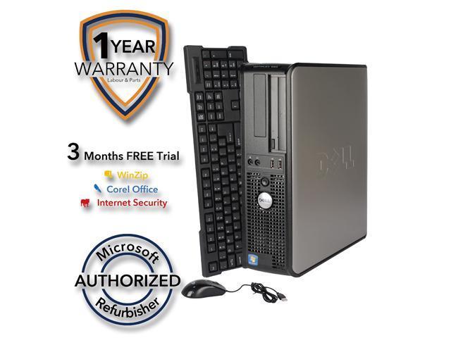 DELL Desktop Computer 760 Core 2 Duo E7600 (3.06 GHz) 4 GB DDR2 1 TB HDD Windows 7 Professional 64-Bit