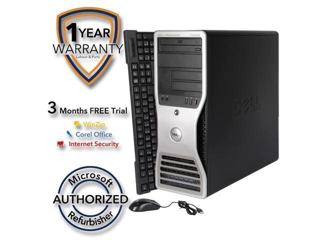 DELL Desktop Computer T3400 Core 2 Duo E6550 (2.33 GHz) 4 GB DDR2 320 GB HDD NVIDIA NVS 285 Windows 7 Professional 64 Bit