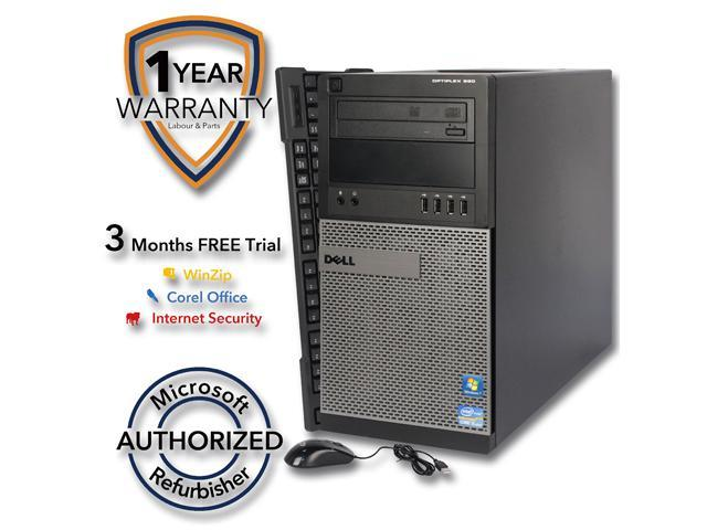 DELL Desktop PC 990 Intel Core i5 2400 (3.10 GHz) 8 GB DDR3 320 GB HDD Intel HD Graphics 2000 Windows 7 Professional 64-Bit