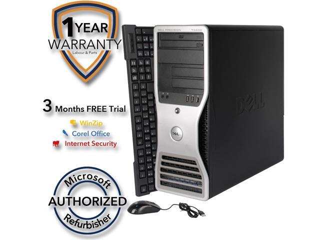 DELL Desktop Computer T3400 Core 2 Duo E6550 (2.33 GHz) 4 GB DDR2 1 TB HDD NVIDIA NVS 285 Windows 7 Professional 64 Bit