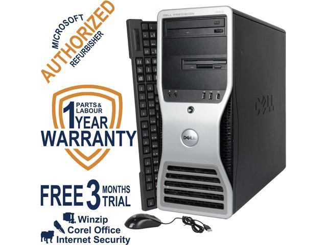 DELL Desktop Computer Precision 490 Intel Xeon 5110 (1.6 GHz) 4 GB DDR2 160 GB HDD NVIDIA NVS 285 Windows 7 Professional 64 Bit