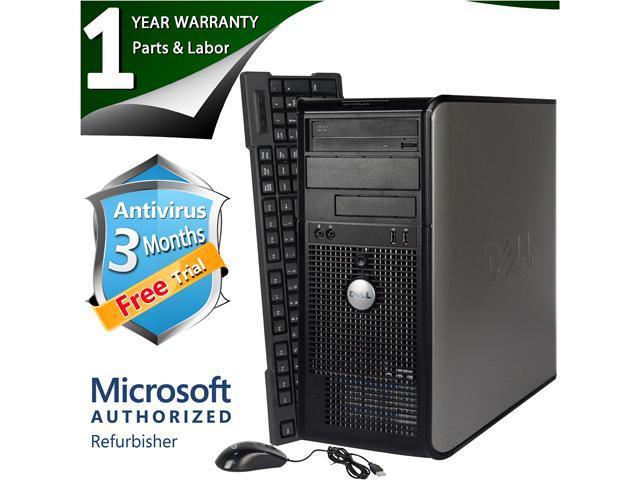 DELL Desktop Computer 745 Core 2 Duo E6300 (1.86 GHz) 4 GB DDR2 160 GB HDD Windows 7 Home Premium 64-Bit